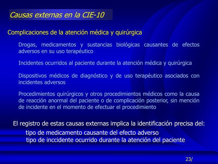 Causas externas en la CIE-10