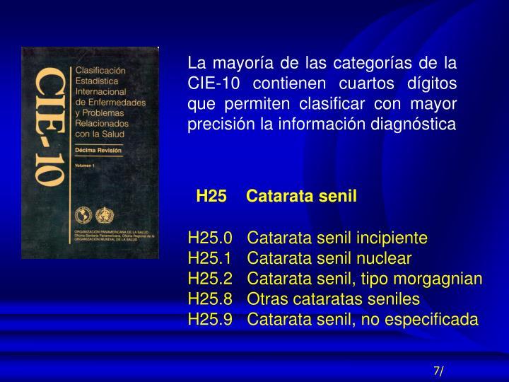 H25    Catarata senil