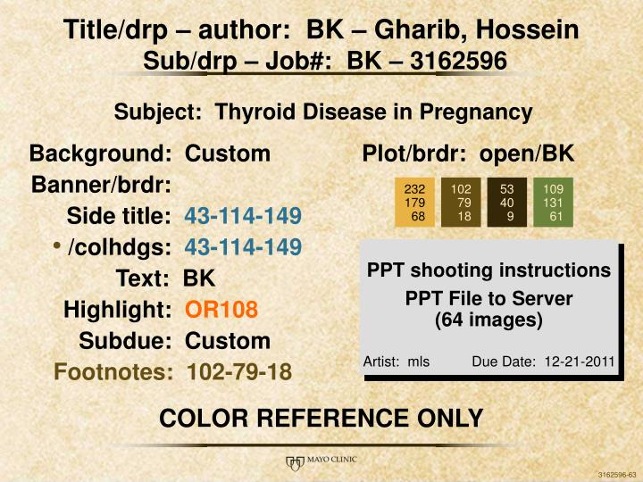 Title/drp – author:  BK – Gharib, Hossein
