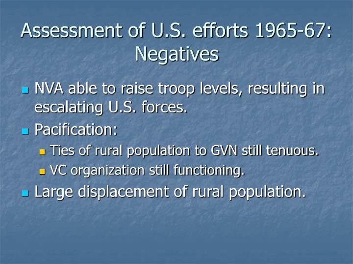 Assessment of U.S. efforts 1965-67: