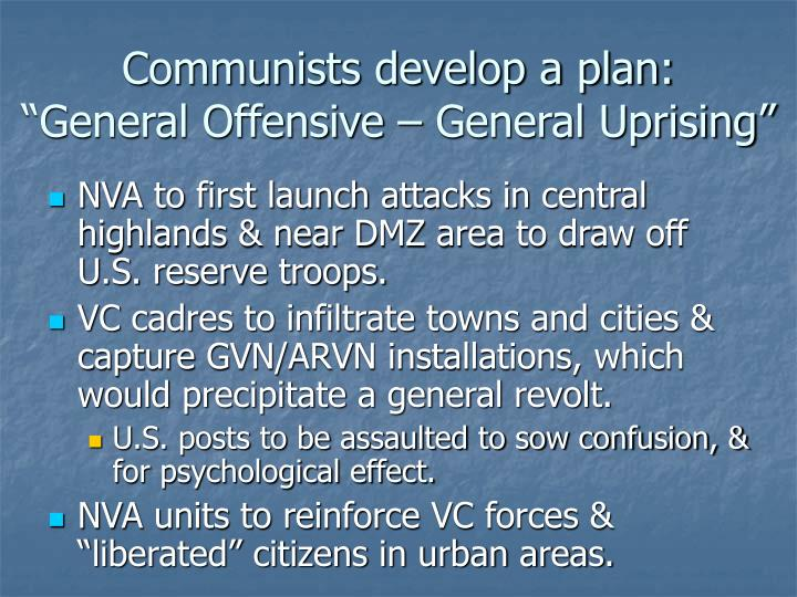 Communists develop a plan: