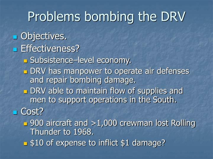 Problems bombing the DRV