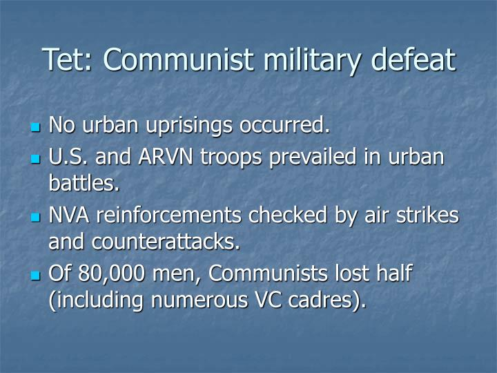 Tet: Communist military defeat