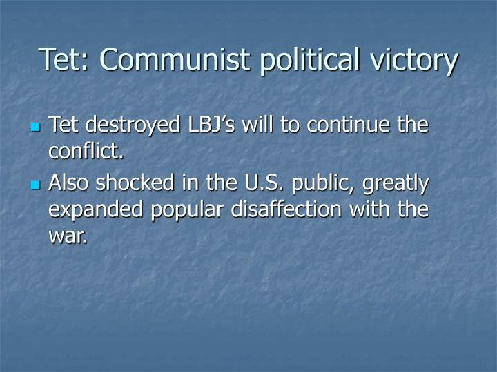 Tet: Communist political victory