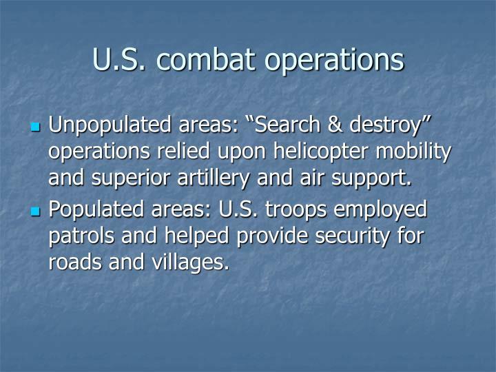 U.S. combat operations