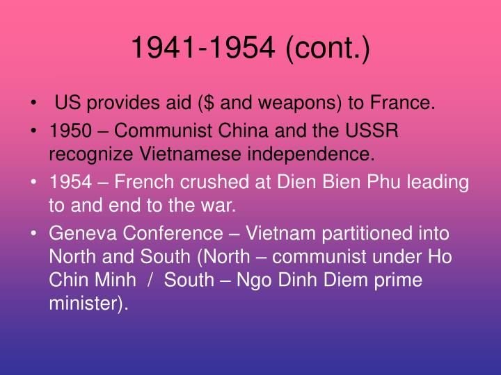 1941-1954 (cont.)