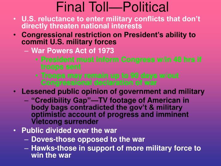 Final Toll—Political