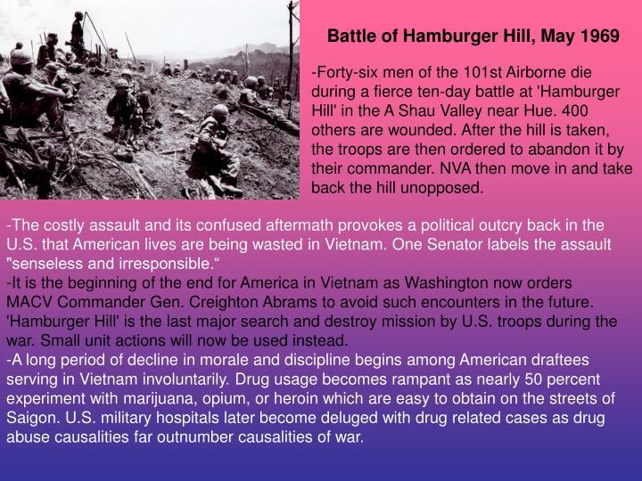 Battle of Hamburger Hill, May 1969