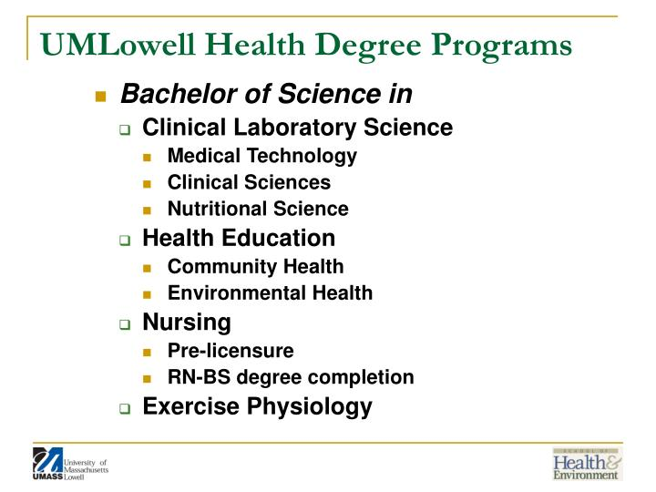 Umlowell health degree programs
