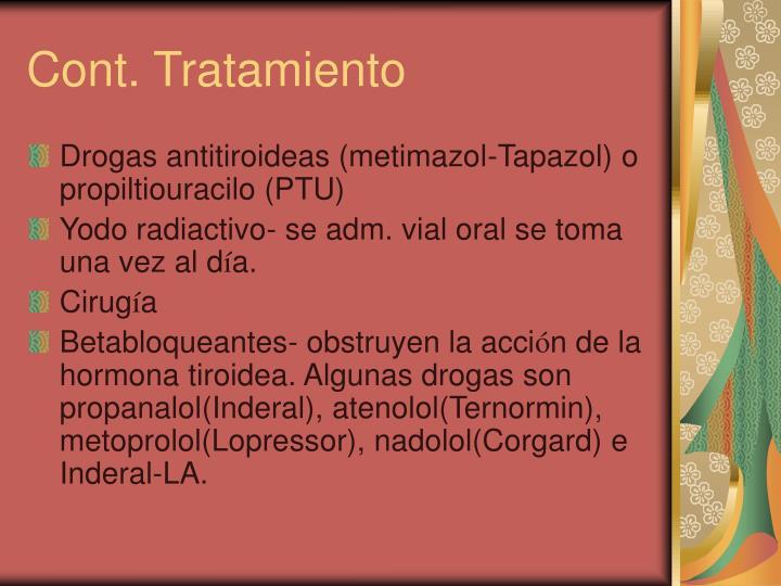 Cont. Tratamiento