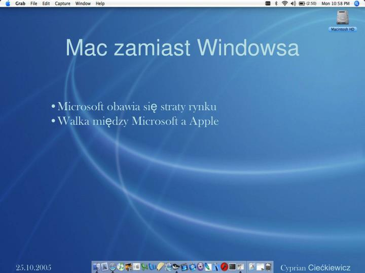 Mac zamiast Windowsa