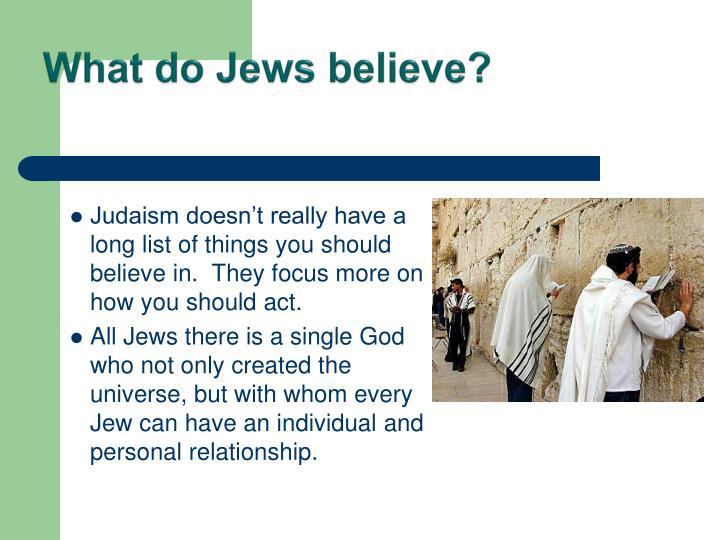 What do Jews believe?