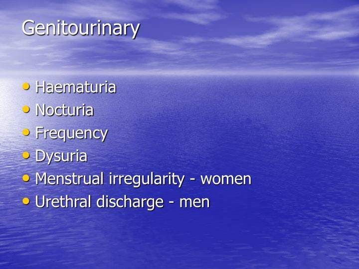 Genitourinary