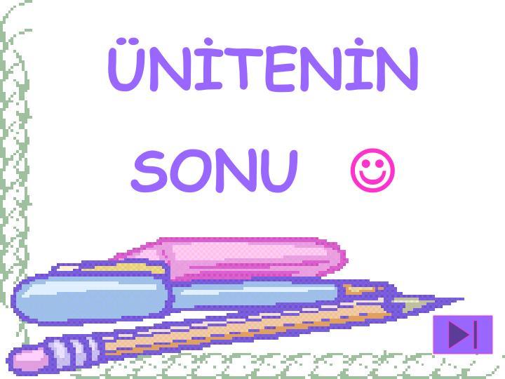 ÜNİTENİN