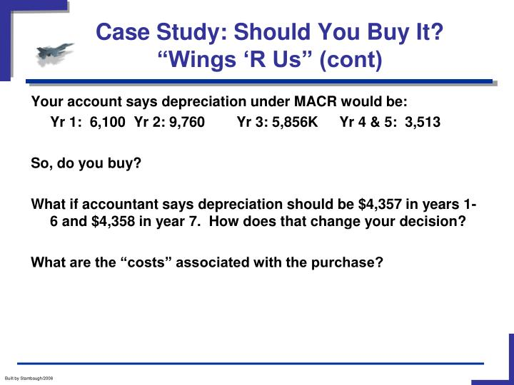 Case study should you buy it wings r us cont