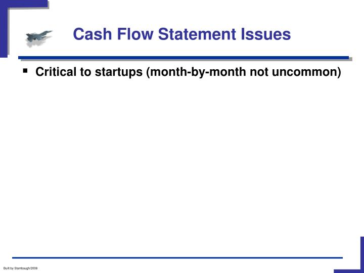 Cash Flow Statement Issues