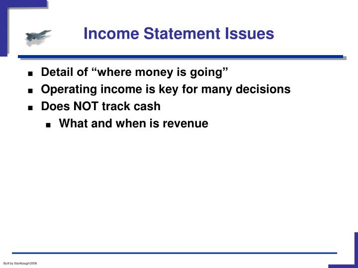 Income Statement Issues