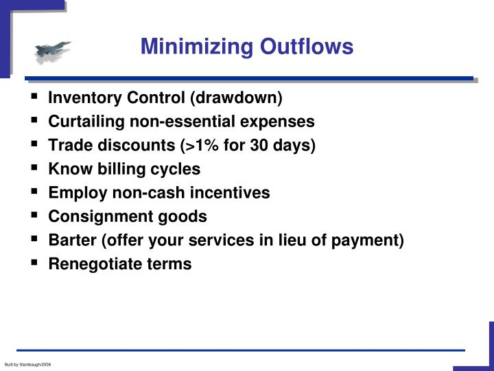 Minimizing Outflows