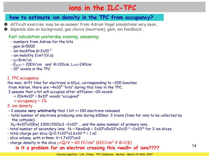 ions in the ILC-TPC