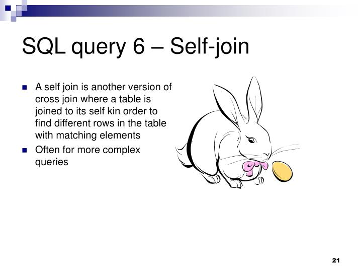 SQL query 6 – Self-join