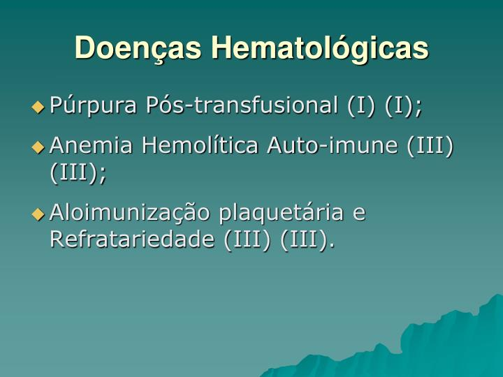 Doenças Hematológicas