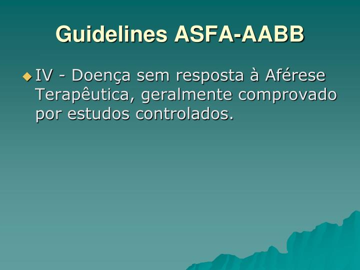 Guidelines ASFA-AABB