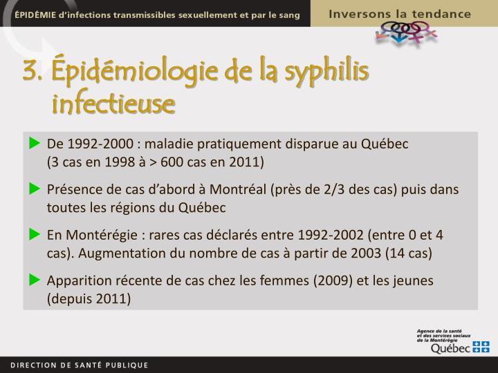 3. Épidémiologie de la syphilis