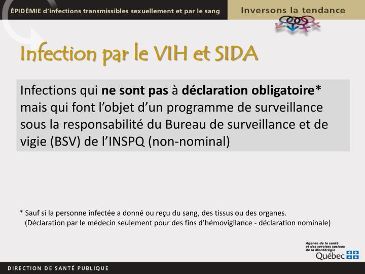 Infection par le VIH et SIDA