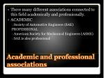 academic and professional associations