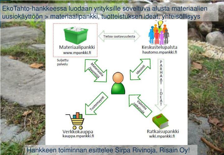 EkoTahto-hankkeessa
