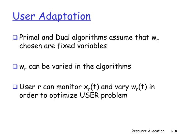 User Adaptation