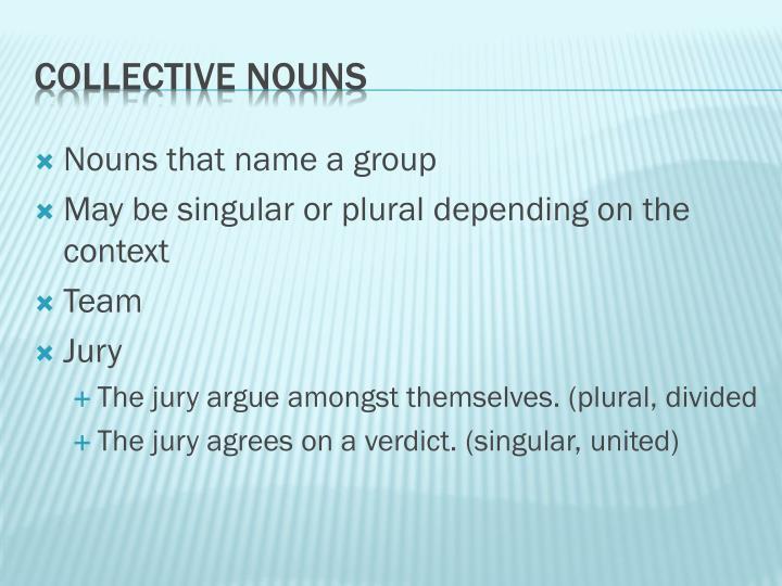 Nouns that name a group