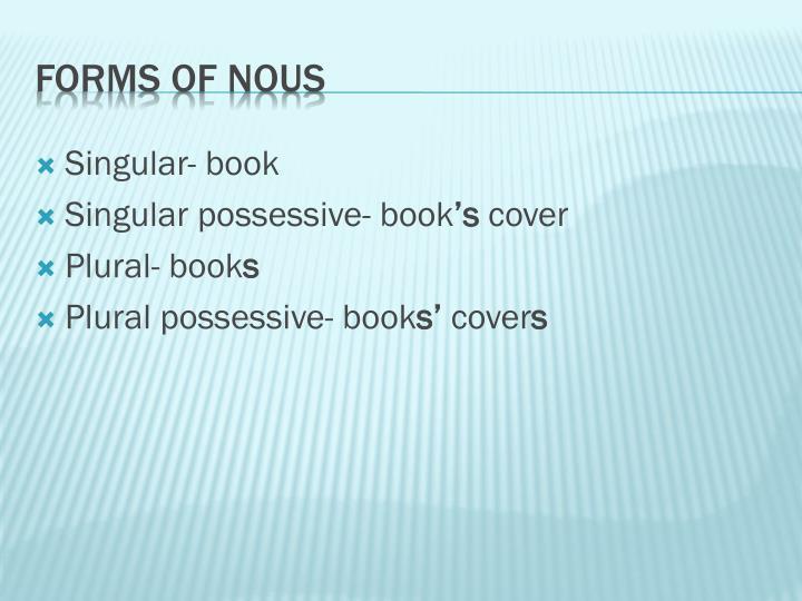 Singular- book