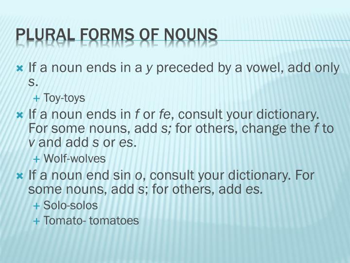 If a noun ends in a