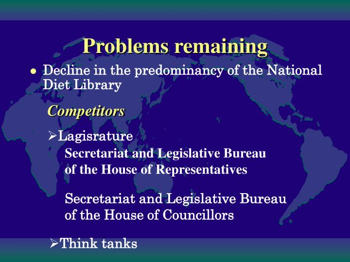Decline in the predominancy of the National Diet Library