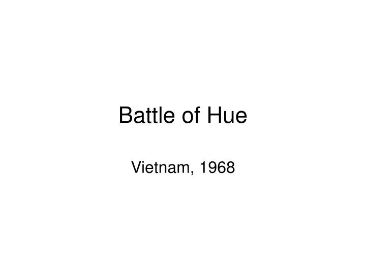 Battle of Hue