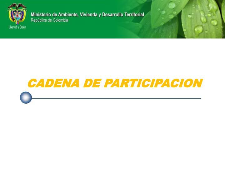 CADENA DE PARTICIPACION