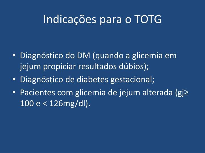 Indicações para o TOTG