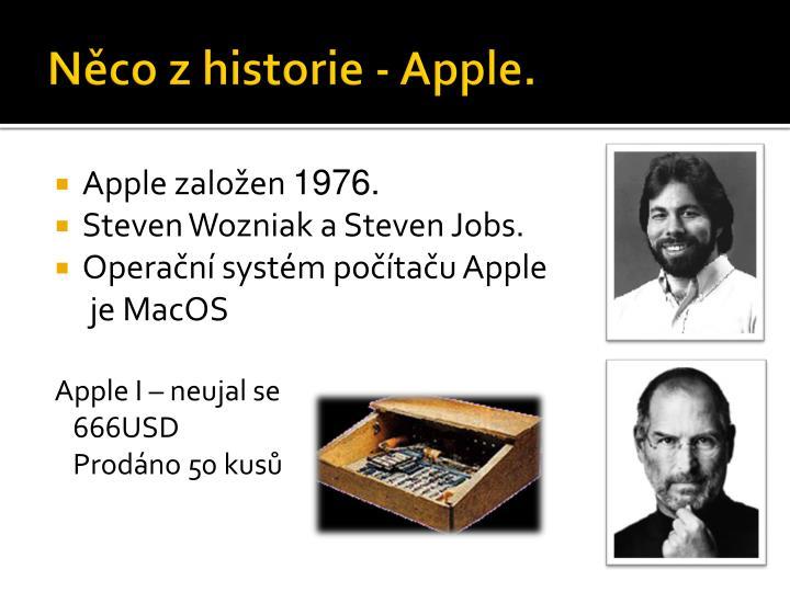 Něco z historie - Apple.