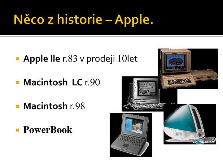 Něco z historie – Apple.