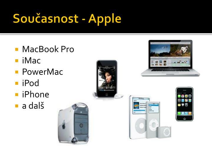 Současnost - Apple