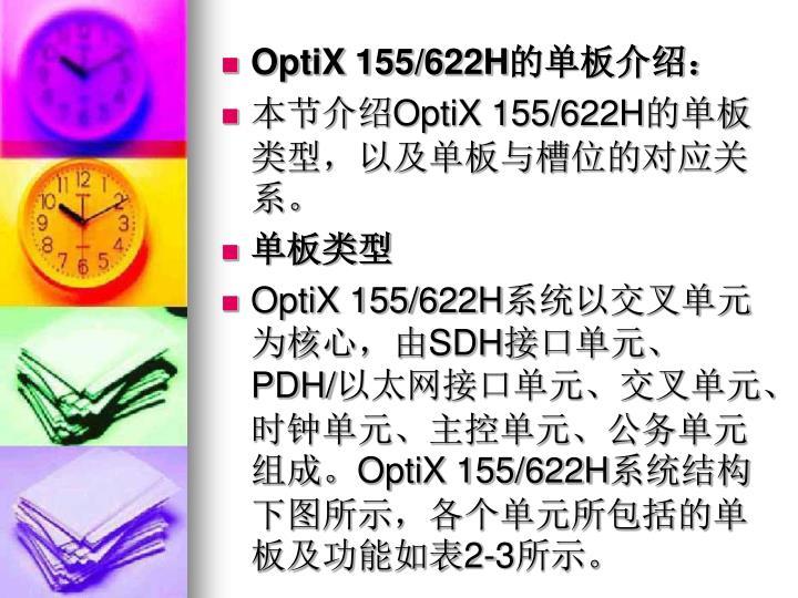 OptiX 155/622H