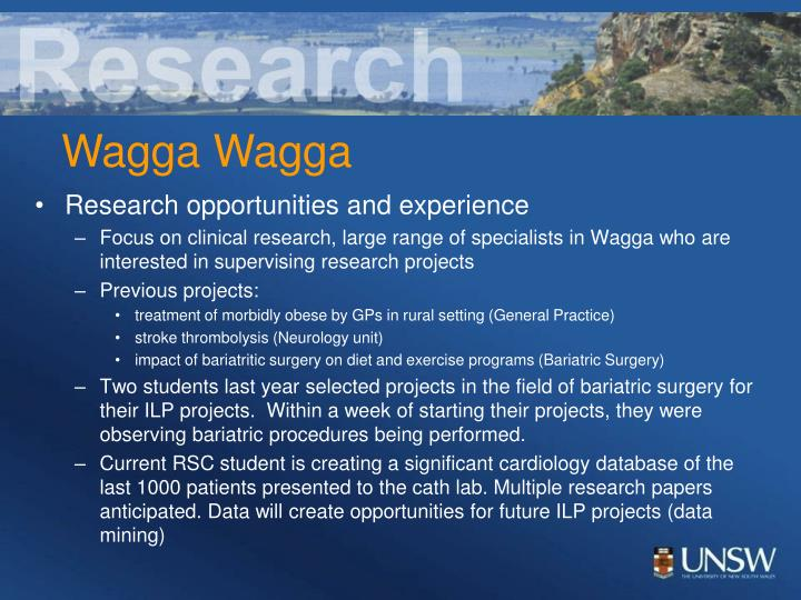Research opportunities and experience