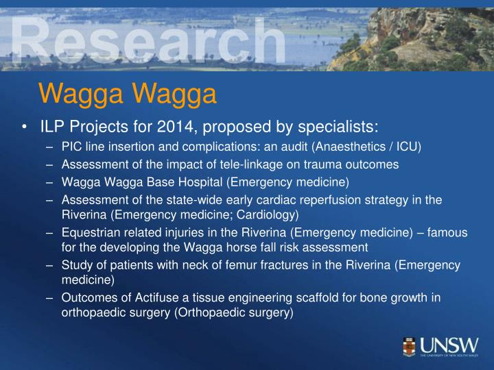 ILP Projects for 2014, proposed by specialists: