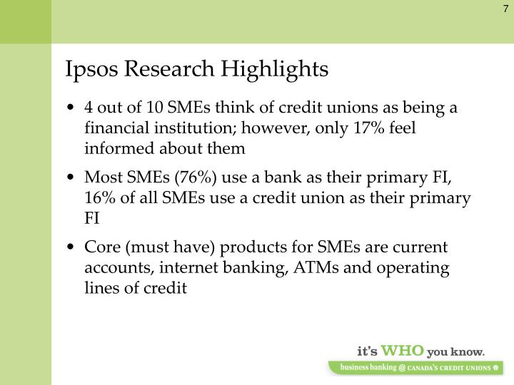 Ipsos Research Highlights
