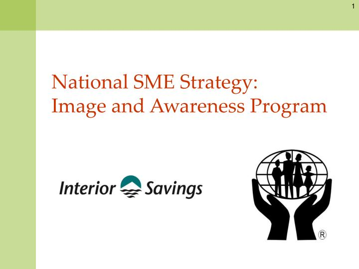 National sme strategy image and awareness program