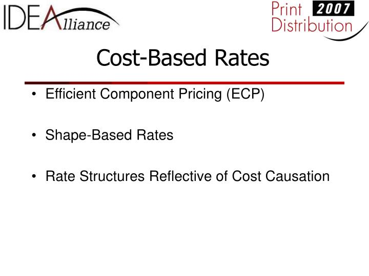 Cost-Based Rates