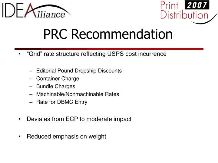 PRC Recommendation