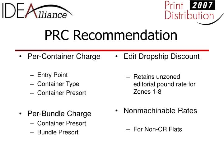Per-Container Charge