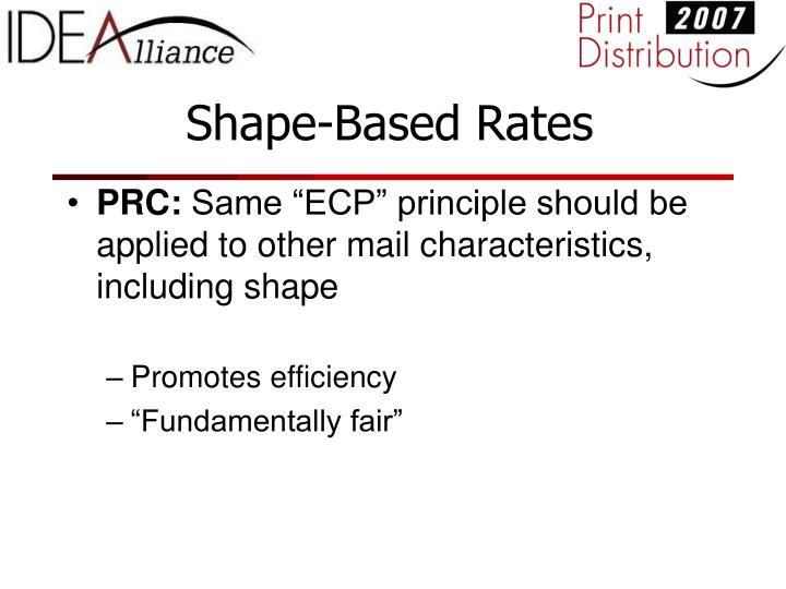 Shape-Based Rates
